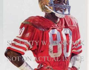 Jerry Rice San Francisco 49ers Corning Art 12x14 LE