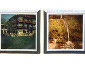 Set of vintage glass slides / Set glass dia's