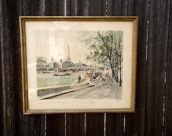 Tour d'Eiffel, Watercolor, Pairs 1930s