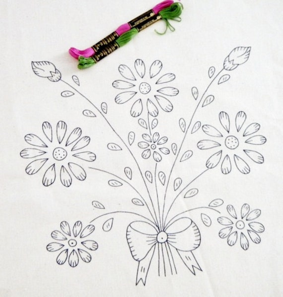 Items similar to free shipping floral bouquet pattern