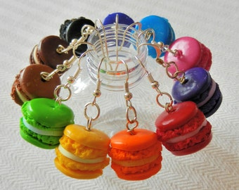 Earrings multicolor buttons