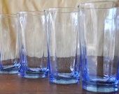 Mod Decor Faded Blue Glassware Set - 4pc Drink Glasses