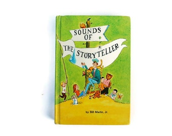 Sounds of the Storyteller Book, Vintage Children's, Green and Yellow, 1966