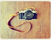 Handmade Genuine Camera Leather Strap (Previously Belonged to a Cow)