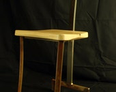Chair - solid oak and metal,