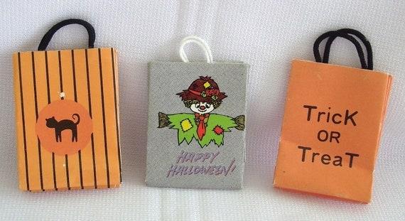 Miniature Halloween Trick or Treat Bags