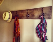 4 Hook Coat Rack made with Aged Barn Wood, can also be used as towel rack, Christmas gift, birthday wedding gift