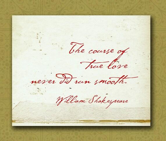 William Shakespeare Birthday Quotes: Items Similar To William Shakespeare Love Quote Wall Print