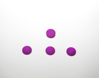 4 pcs. Polaris Cabochons / 12 mm / frosted / purple PC05-12