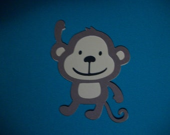 Cricut Create a Critter Monkey Jungle Safari Die Cut Quickutz Paper Piecing Scrapbooking
