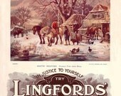 """An Olde Worlde Card, Lingfords """"Winter Weather"""""""