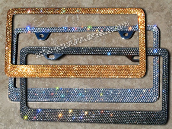 Seattle Seahawks Glitter License Plate Frame - Black