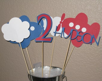 Airplane Centerpiece Table Decoration You Pick the Colors, Airplane Party, Airplane Birthday