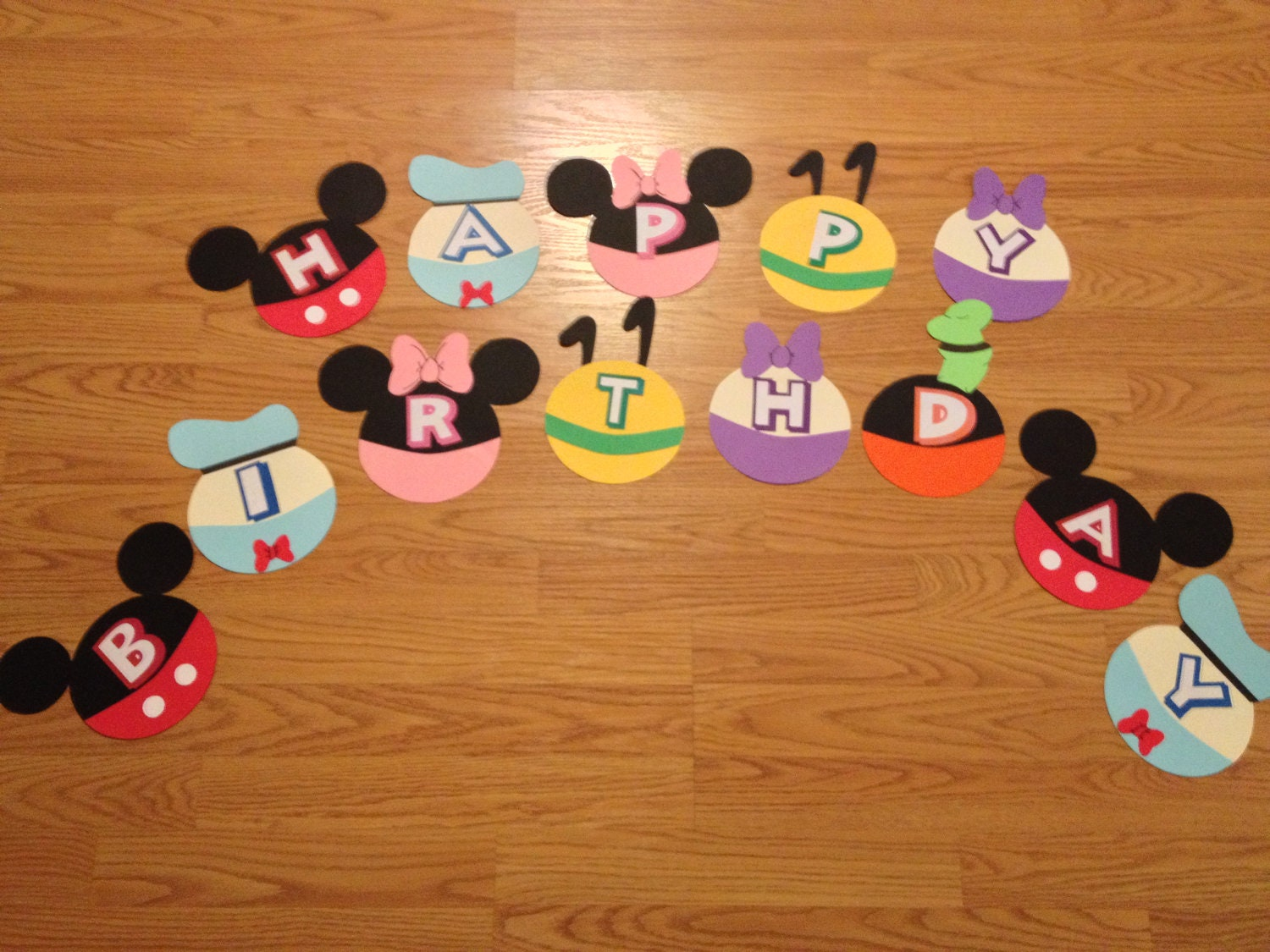 happy birthday banner mickey mouse theme. Black Bedroom Furniture Sets. Home Design Ideas