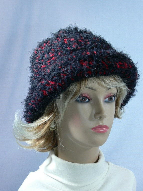 Knitting Eastern European Style : Eastern european style hat red black hairy ss