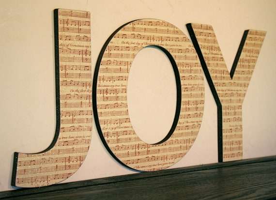 Items Similar To Sheet Music Wall Letters Home Decor