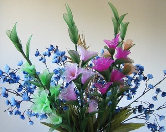 Nylon flower Gladiolus Arrangement  Pot not included