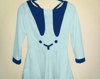 powder blue bunny dress MADE TO ORDER