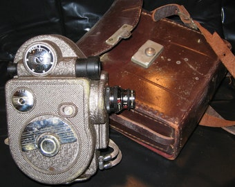 Revere 1940 Model 88 Motion Picture Camera with Leather Case