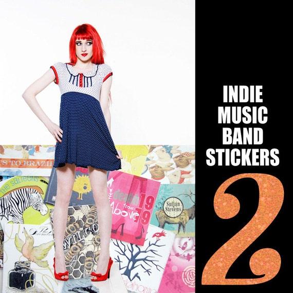 Indie Band Music Stickers, Two Door Cinema Club, Morrissey, Sufjan Stevens, Decemberists, Wilco, Minus The Bear, Devendra Banhart, Sigur Ros