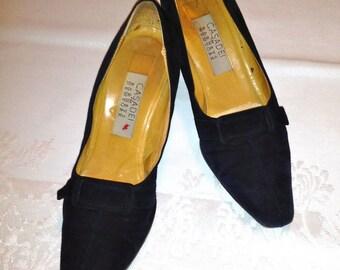 Sale CASADEI for BARNEY'S New York, Vintage Designer Suede Shoes, Size 7