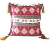 Turkish kilim motifs Decorative Throw Pillow Cover ...Handmade throw pillow cover...