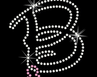 Disney Extra Large Monogram Letter With Dangling Mickey Rhinestone Transfer You Choose Letter DIY Iron On