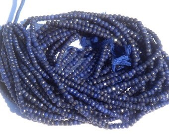 AAA Quality Sapphire Micro Faceted 3.5 to 4.50 mm pack of 10 strings