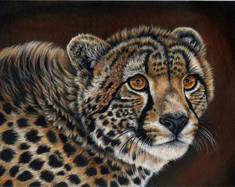 Cheetah Painting- Print