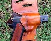 Custom concealed leather gun holster made for most gun models