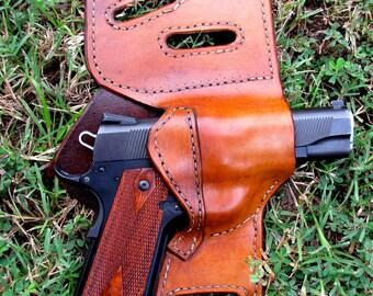 Custom concealed leather gun holster made for most gun models