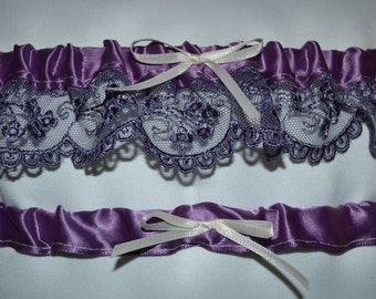 Lilac Lace Garter