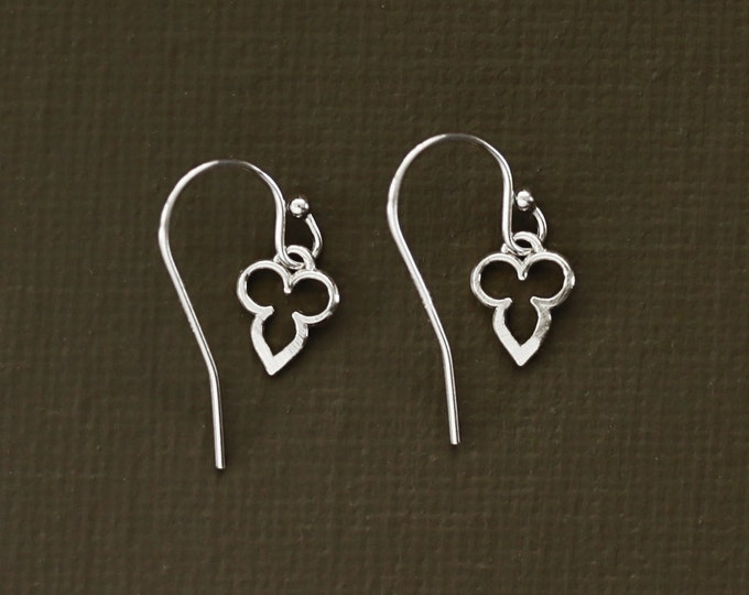 Tiny Sterling Silver Mehndi Earrings