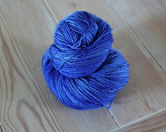 Summer Sky Blue Merino Superwash Sock Yarn -  Moon Stone Farm
