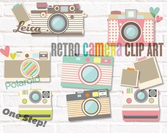 Camera Clip Art  Retro Cameras 2 PNG, JPEG files
