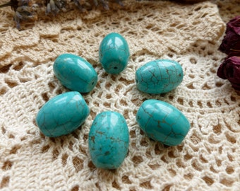 6 x Large Turquoise Bead For Jewelry Making