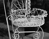 Antique Wire Carriage - Perfect for Baby Shower Decorations