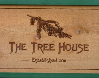 Rustic Camp Sign to personalize - Cabin Sign - Lodge Sign - Rustic Decor - Treehouse Sign