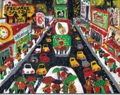 Boxed HOLIDAY CARDS  of Times Square NYC:  whimsical, colorful  reproductions of original artwork by Michelle Winters