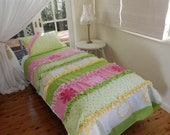 Hand Made Frilly Quilt Cover