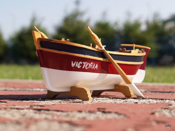 Miniature Boat with Personalized Words,Monogram,goes on the water , Father's  day gifts