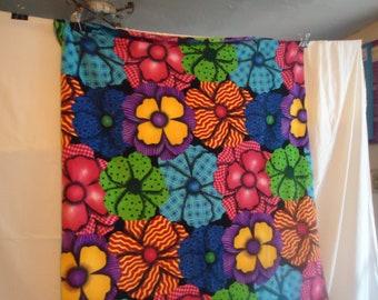 flowers fleece throw blanket