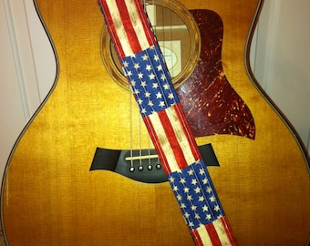 american flag guitar etsy. Black Bedroom Furniture Sets. Home Design Ideas