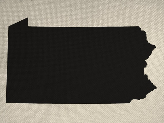 State Of Pennsylvania Silhouette Graphic Iron By
