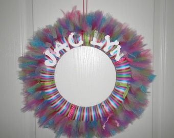 Peronalized tutu wreaths