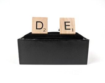 Scrabble Tile Cufflinks - Delaware