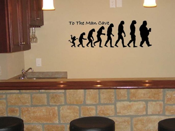 Man Cave Decor Questions : Items similar to the man cave vinyl wall decal quot x