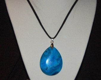 Turquise Tear Drop Pendant