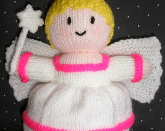 Free Postage * Christmas Angel/Fairy Hand Knitted Doll