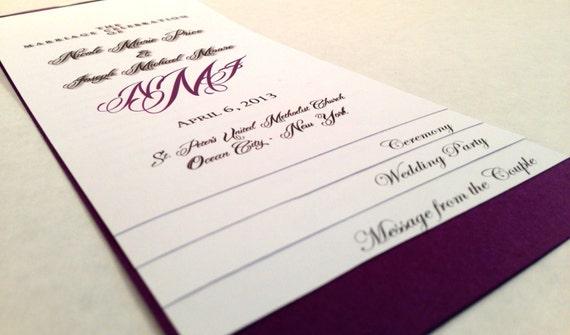 Diy 5 Page Layered Wedding Program Template Monogram